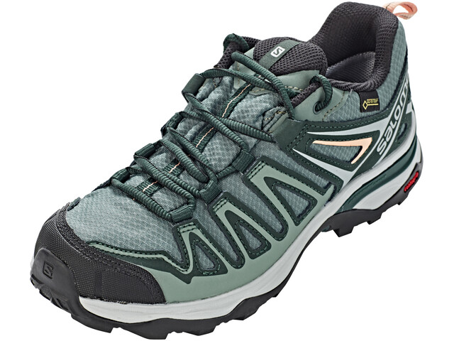 Salomon X Ultra 3 Prime GTX Shoes Women Balsam Green/Darkest Spruce/Coral Almond